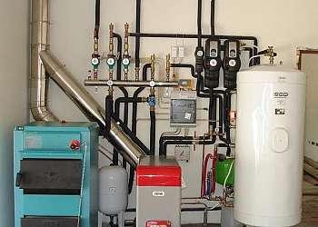 Montagem de caldeiras de aquecimento